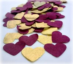 Wedding Confetti/Biodegradable Throwing Confetti - Marsala & Gold by FlumpyButtons on Etsy https://www.etsy.com/listing/180508145/wedding-confettibiodegradable-throwing