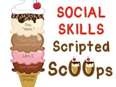 Making ice cream cones with Social Skill Scoops is a fun way to identify and practice important social skills for friendship building. Adapted from Boys Town's Treatment Model for Troubled Children and Adolescents, this interactive role playing game includes the following:1. 36 brief Social Scenarios for Social Skills problem solving.2. 18 Compliment Incentive Cards to be rewarded by peers.3. 50 Prompted Social Skills and Scripts on ice cream scoops for identifying skills and role play.