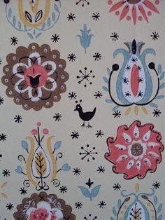 50s folkart wallpaper