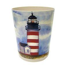 lighthouse wastebasket bed u0026 bath shower curtains