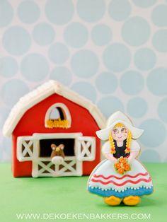 Fattoria olandese ragazza Cookie Cutter di 3DCookieCutterShop