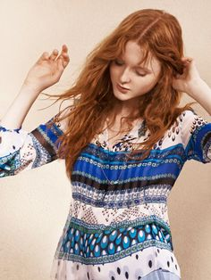 A summer Friday look courtesy of printed tops from DVF.