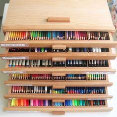 Super organized Coloring Box Storage