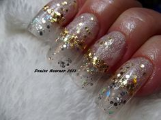 Fairy Dust Nails ....a clear looking nail with glitters .