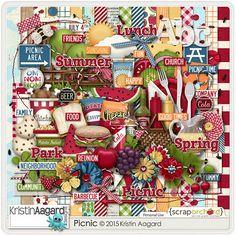Digital Scrapbook Kit - Picnic | Kristin Aagard
