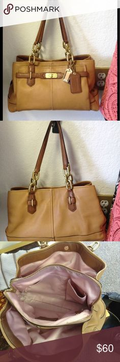 Coach leather bag Few stains in the inside only Coach Bags Satchels