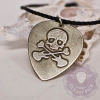 Skull metal guitar pick necklace Guitar Pick Necklace, Guitar Picks, Washer Necklace, Jewelry Design, Skull, Classy, Necklaces, Holidays, Metal