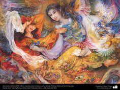 Liberación.( detalle).1996 , Obras maestras de la miniatura persa; Artista Profesor Mahmud Farshchian, Irán   Galería de Arte Islámico y Fotografía
