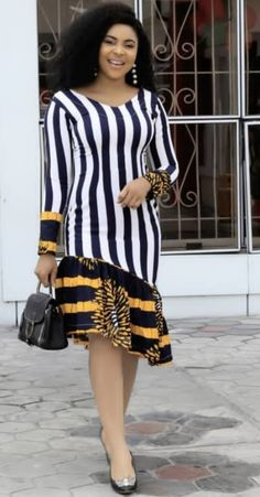 The way you look generally defines who you are, hence you need to be abreast of the latest styles. African Dresses For Kids, Latest African Fashion Dresses, African Print Dresses, African Print Fashion, Ankara Fashion, African Attire, African Wear, African Women, Short Ankara Dresses