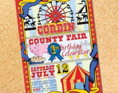 County Fair Carnival Vintage Printable Birthday by partymonkey