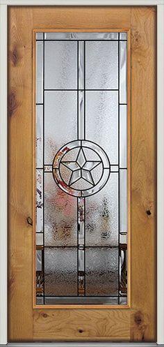 Full Lite Star Knotty Alder Door - front entry door from Door Clearance Center & Custom Texas star iron door unit aaleadedglass.com   Wrought Iron ... pezcame.com