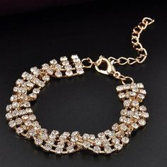Beautiful and Elegant Gold Plated Bracelet Perfect accent for formal occasions. 100% Brand new and Good Quality. Jewelry Bracelets