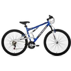 Full Suspension Mountain Bike 29 Inch Aluminum Frame 21 Speed Blue White Bicycle Description: If you want to enjoy superior comfort while riding on hills, then you might have to get the Full Suspension Mountain Bike. Featuring a singl. Mountain Bikes For Sale, Mens Mountain Bike, Best Mountain Bikes, Mountain Biking, Buy Bike, Bike Run, Full Suspension Mountain Bike, Specialized Bikes, Bicycle Maintenance