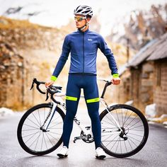 """"""" @velotec #kitfit for all you Navy kit's fans...with a splash of #fluro. This #cyclingkitfit features @velotec Elite Winter Jacket, Bib Shorts and…"""""""