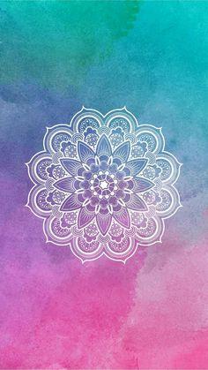 Mandala Designs in Illustrations, Patterns, Trends. Mandala Creator Online and Free Simple Tumblr Wallpaper, Tumblr Backgrounds, Cool Wallpaper, Pattern Wallpaper, Wallpaper Backgrounds, Wallpaper Lockscreen, Iphone Backgrounds, Pink Wallpaper, Screen Wallpaper