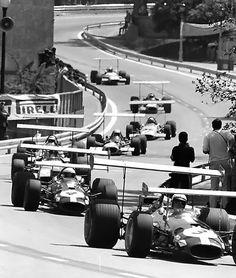 N°. 3: Jack Brabham (AUS) (Brabham Racing Organisation), Brabham BT26A - Cosworth V8 (RET)N°. 4: Jacky Ickx (BEL) (Motor Racing Developments), Brabham BT26A - Ford V8 (finished 6th)Race won by Jackie Stewart (Matra International), followed by Bruce McLaren (Bruce McLaren Motor Racing) and Jean-Pierre Beltoise (Matra International).1969 Spanish Grand Prix, Montjuïc Circuit: