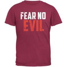 Fear No Evil Cardinal Red Adult T-Shirt