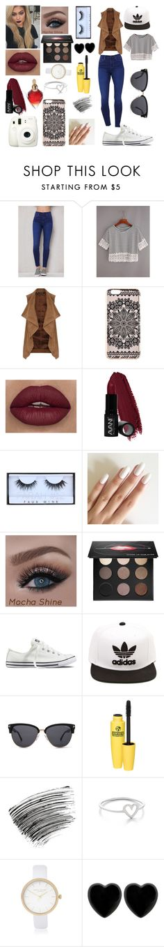 """"""".."""" by alicechan1026 ❤ liked on Polyvore featuring PacSun, WithChic, Dorothy Perkins, New Look, Avani, Huda Beauty, MAKE UP FOR EVER, Converse, adidas and Tom Ford"""