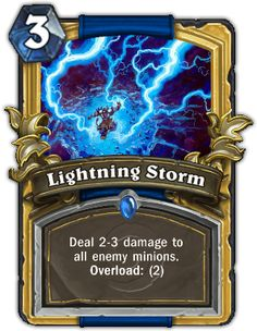 Lightning Storm - Hearthstone Cards