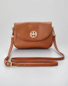 Robinson Double Gusset Crossbody Bag, Luggage - Neiman Marcus