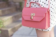 pink bag, pink satchel bag
