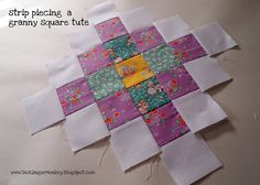 granny square strip piecing tutorial