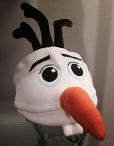 Do you want to build a Snowman?  Cute hat!!  Would be cute to add ear flaps and a chin strap for little ones too!