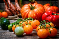 harvest summer tomatoes by nikolay_2002