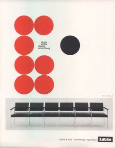 German interiors brochure, 1964 via form.de