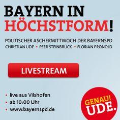 Livestream vom politischen Aschermittwoch der BayernSPD in Vilshofen.