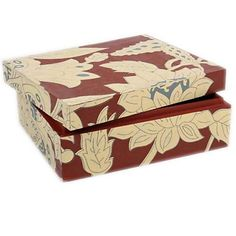 Mangowood Box With Painted Floral Design - Wood Boxes - Product - Trade Aid