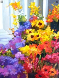 """Daily Paintworks - """"Market Share"""" by Libby Anderson"""