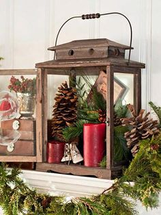 Fill Lantern With Pinecones & Candles @Katharine Korona