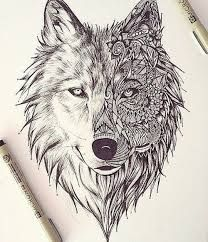 Image result for wolf woman art ink