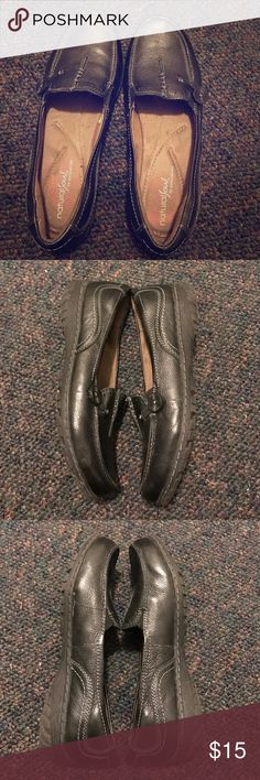 Naturalizer black leather comfort loafers 8.5 The shoes are in excellent condition with barely any signs of wear. Super comfortable and clean.  These are naturalizer natural soul Naturalizer Shoes Flats & Loafers