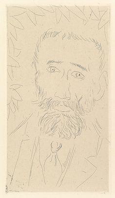 "Henri Matisse ""Iturrino"" 1914 Etching on chine colle"