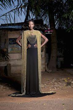 Aphia Sakyi's Alluring Necklace Collection Inspired By Ghanaian Queens African Accessories, African Jewelry, Fashion Accessories, African Goddess, Sixties Fashion, Mom Tattoos, Hair Shows, African Design, African Attire