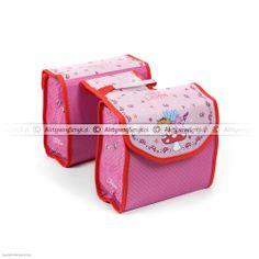 Różowe sakwy rowerowe z Księżniczką Lillifee Card Case, Birthday Cake, Wallet, Cards, Birthday Cakes, Maps, Playing Cards, Purses, Diy Wallet