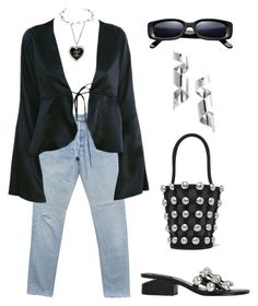 """""""Untitled #1359"""" by lucyshenton ❤ liked on Polyvore featuring Chanel, Alexander Wang, Annelise Michelson and Topshop"""