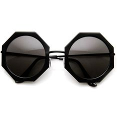 Womens Oversized Full Metal Geometric Octagonal Sunglasses ($10) ❤ liked on Polyvore featuring accessories, eyewear, sunglasses, glasses, octagon glasses, oversized circle sunglasses, square sunglasses, octagon sunglasses and circular sunglasses