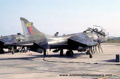 RAF 3 Squadron Hawker Siddeley Harrier T.4 XW933/AQ (1984) aviationphotocompany.com/p934046062/e39…