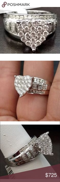 Gorgeous 1 carat 10k diamond heart cluster ring Gorgeous 1 carat 10k diamond heart cluster ring Jewelry Rings