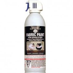 Simply Spray Upholstery Fabric Paint- I have no personal experience with this but I have heard it's fantastic. Use on chairs, sofas, curtains, lampshades, linens, and carpet.