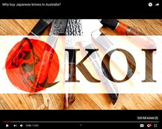 Koi Knives founders Ramon and Shannon is giving information about using Japanese knives and how they decide to offer it as a product. Japanese knives are sat. Koi, Knives, Japanese, Make It Yourself, Japanese Language, Knife Making, Knifes