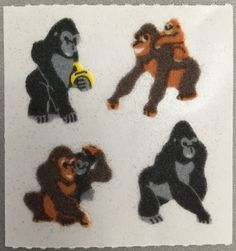 Sandylion+Fuzzy+APE+monkey+Retro+Rare+Vintage+Retired+FM439