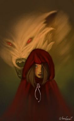 Photoshop + Wacom Little red riding hood in the forest, so obvious right ? Little red riding hood Little Red Ridding Hood, Red Riding Hood, Origin Of Halloween, Big Bad Wolf, Lunar Chronicles, Red Hood, The Villain, Big Eyes, Werewolf
