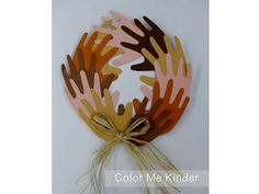 Peace Wreath from - Color Me Kinder: New Year's Wrap Up & Black History Month Fun!
