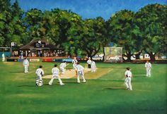 cricket art Cricket Poster, Play N Go, Wide World, World Of Sports, Sports Art, Competition, Dolores Park, Artists, Game