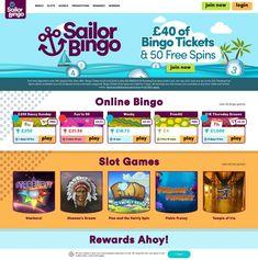 Sail away to Sailor Bingo and enjoy all the benefits of the awesome welcome bonus / bingo and slots / go to freeslots.ninja and get your bingo tickets and free spins / Bingo Tickets, Bingo Casino, Online Casino Games, Online Casino Bonus, Play Slots, Free Slots, Slot Machine, Spinning, Ninja