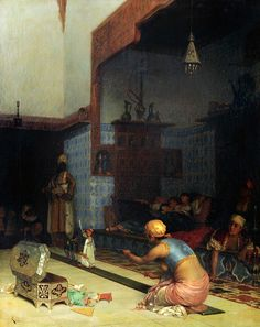 Theodoros Ralli (Greek, 1852-1909). Marionettes in the Harem